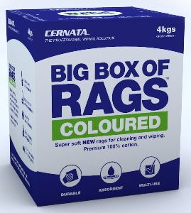 BIG BOX OF RAGS COLOURED - Soft NEW 100% cotton rags
