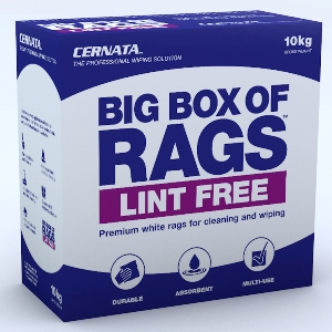 BIG BOX OF RAGS LINT FREE - Non Linting white rags