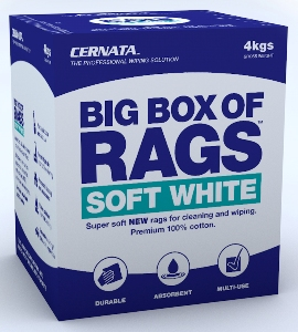 BIG BOX OF RAGS WHITE - Soft NEW 100% cotton rags