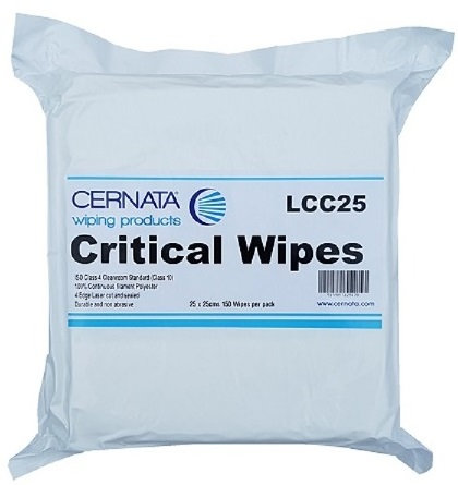CERNATA� Lint Free Cleanroom Wipes ISO4 25x25cm Pack of 150