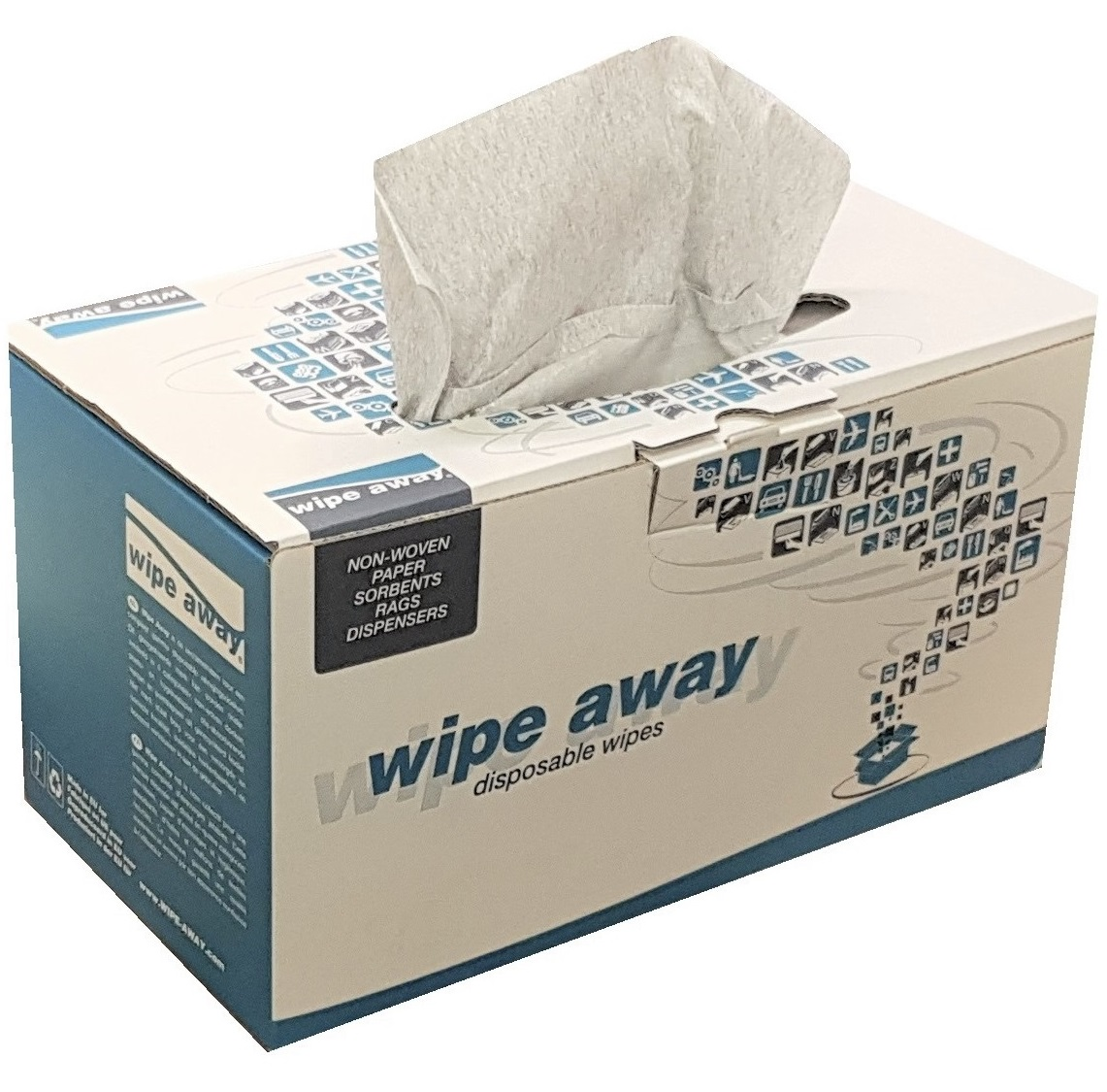 Heavy Duty Lint Free Wipes Grey 260 Wipes/Case 42x36cm